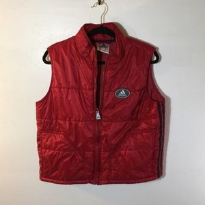 Adidas vest red size large.